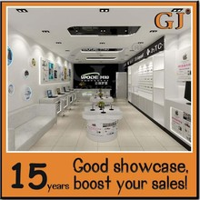 Glass store mobile phone display showcase mobile display stand