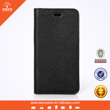 leechee Grain Leather Custom Flip Phone Case For Mobile Phone Case