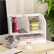 office furniture wood plastic carved desktop bookshelf
