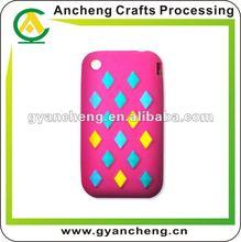 fashion jewelry Customs design silicone rubber mobile phone cover/case