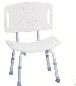 Height adjustable anti slip shower commode chair
