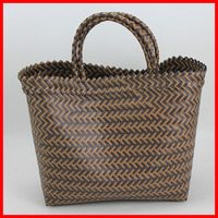 2015 new woven plastic fashion pp hand bag