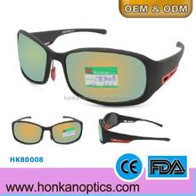 Latest Sports glasses Corforful Frame UV400 Polarized Sunglass CE FDA ISO9001 Standard