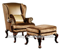 V135-1 excellent American carving wood sofa sets classic furniture