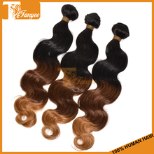 Wholesale Cheap 100% Virgin Unprocessed Remy Human Three Tone Ombre Brazilian Hair Weave Wet And Wavy