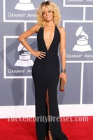 Rihanna Sexy Prom Evening Dresses 2012 Grammy Awards Red Carpet Gown