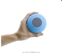 portable water resistant speaker with 6 hrs of playtime for showers