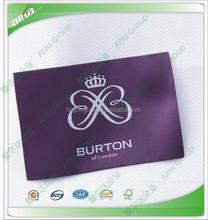 Customize elegant satin woven label clothing adhesive fabric labels