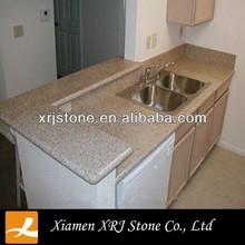 Bullnose Edge / Eased Edge G682 granite / Golden Sunset Granite Kitchen Countertop
