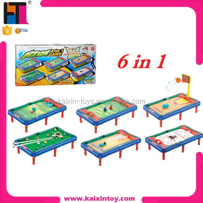 10144275... New 6 In 1 Mini Multi Game Table ...