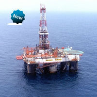 offshore oil filed platform for drilling rig