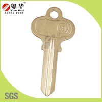 Brass material golden color custom logo house key blank for lock market from 24 years China supplier