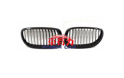 Newest Color Glossy Black Carbon Fiber Front Bumper Kidney Grille For BMW 5 series