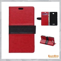 pu leather wallet phone case for Sony Ericsson E4 case