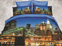 wholesale home textile reactive printed duvet cover 3d bed cover set