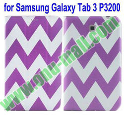New Arrival Three Folio PU Leather Case for Samsung Galaxy Tab 3 7.0 P3200 with Stand