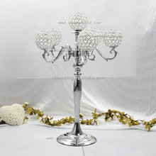 crystal centrepieces wholesale/crystal centerpieces for wedding table/iron plated crystal ball wedding centerpiece