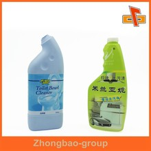 2015 great PVC shrink sleeve plastic label for toilet cleaner bottle packaging