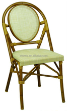 stack wicker chair aluminum frame bistro bamboo look chair wicker simple style chair