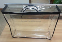 clear vinyl zippered bag for packaging quilt wholesale