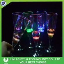 Liquid Active LED Champagne Glass,Flash Champagne Cup,LED Flash Drink Cup for Party