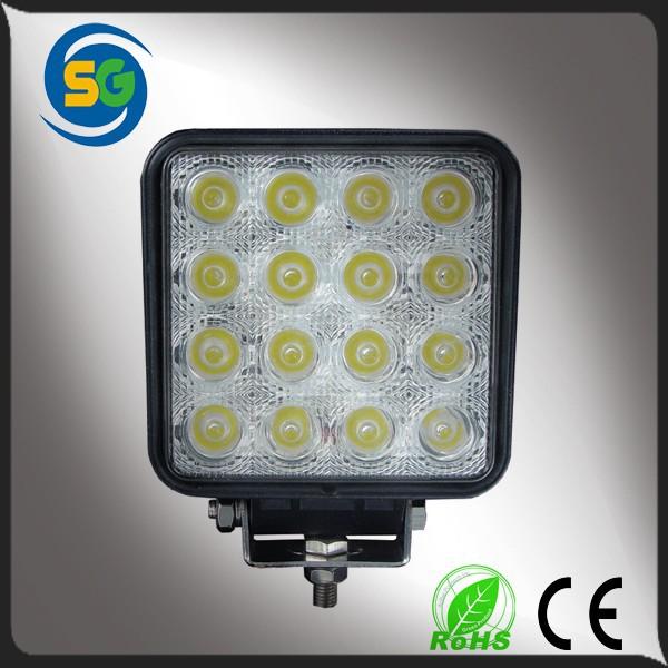 48w12v 24v spot ışık led, araba led far, led çalışma lambası