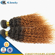 8-36inch cheap fashion and hot selling black color jerry curl peruvian two tone ombre peruvian hair weaving
