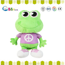 The most satisfying plush toys product,Large eyes purple frog backpack