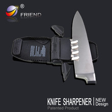 2015 New design black knife sharpener with soft skid-proof handle made in china