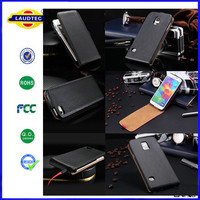 For Blackberry Q20 Luxury Genuine Real Leather Case,Flip leather case for Blackberry--Laudtec