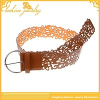 Cheapest Laser Cut Flower 2014 New Style Leather Belt