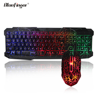 OEM Funny USB wired rainbow backlit laptop keyboard and mouse