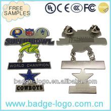 classic custom die struck lapel pin in brass