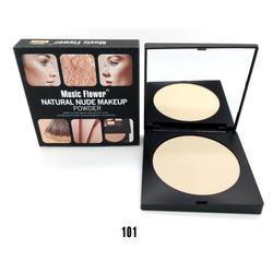 Music Flower New Natural Nude Makeup Powder palette covers spots and acne scars creating an even-toned brighter Pressed Powder