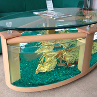 Factory custom clear acrylic fish tank/Coffee Table Fish Tank aquarium