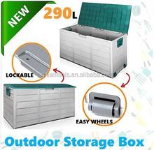 2015 New plastic garden outdoor storage sheds bin deck cushion patio box