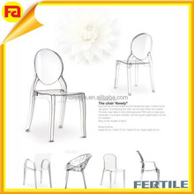 hot sale pure white acrylic furniture dining room chair wholesale