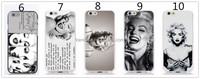 New Marilyn Monroe Bubble Design Sexy Lady Mobile Phone Cover Case For Iphone 4 PC Hard Cover Case For Apple Iphone 4 4S