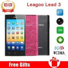 4.5inch Leagoo Lead 3 3G Smartphone Android 4.4 MTK6582 Quad Core 512 RAM 4GB ROM GPS Bluetooth WIFI Smart Mobile Phone