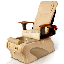 Wholesale cream massage chair fauteuil pedicure, plumbing free foot care massage pedicure chair, nail salon spa chair furniture