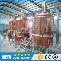 Machines for small business copper 10BBL beer brewing equipment