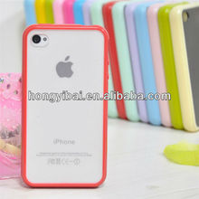 Translucent PC mobile phone accessory for iphone 4 cases ,mobile phone cover for iphone4