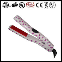 Water trasfer print usb powered hair iron hair straightener for travel