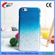 Mix Color Rain Drop Design Hard Back Cover For iPhone 6 Clear Case,For Apple iPhone