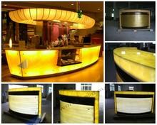 Contemporary design artificial marble illuminated bar top