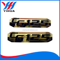 Pretty abs plastic gold planting car logo emblem with names sticker
