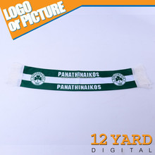 The European champions league of basketball panathinaikos team scarf 2014 best sells basketball scarf for promotion using