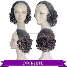 Fashion style! Wholesale half brazilian synthetic curly hair wig
