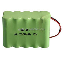 Ni-MH AA 12V 2000mAh BATTERY PACK Manufacturer with CE,ROHS,UL certificates
