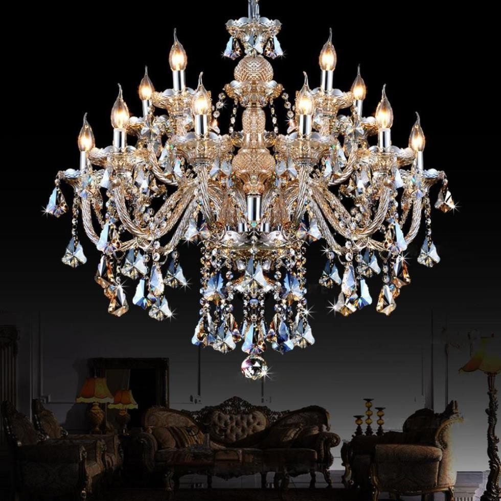 Large chandelier lighting top k9 crystal chandeliers for Popular dining room chandeliers